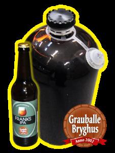 Grauballe bryghus, fadøl, lej fadølsanlæg udlejning til fest Franks IPA